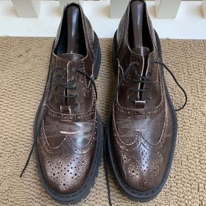 Men's Wingtip Brogue Shoe with Thick sole - 9